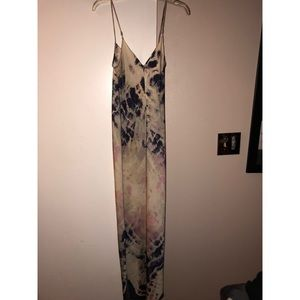 NWOT wild fox silk tie dye long maxi